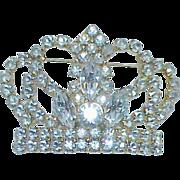 REDUCED Rhinestone Crown Brooch