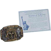 SALE 100th Anniversary Statue of Liberty Commemorative Belt Buckle