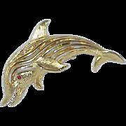 Vintage ROMA Dolphin Brooch