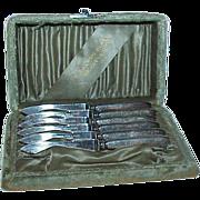 REDUCED Landers Frary & Clark 1890s Fruit Knives-Set of 6