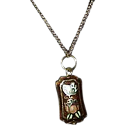 REDUCED Vintage Cloisonne Pendant on Chain