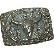 SOLD Vintage EGC Pewter Belt Buckle