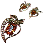 Vintage ANTHONY Brooch and Earring Set