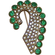 REDUCED Antique APEX Art Nouveau Rhinestone Brooch