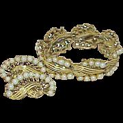 REDUCED Designer MARVELLA Faux Pearl Bracelet and Earring set - Demi Parure