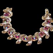 REDUCED Vintage KRAMER Aurora Borealis Rhinestone Bracelet