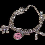 REDUCED Vintage MONET Young Ladies Charm Bracelet