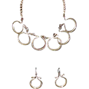 REDUCED Vintage Metropolitan Museum of Art Egyptian Revival Necklace and Earring Set