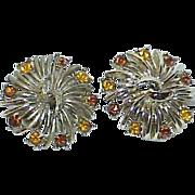 REDUCED Vintage CORO Rhinestone Earrings