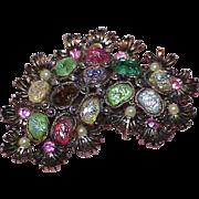 REDUCED Vintage HOLLYCRAFT Rhinestone Bubble Bead Brooch