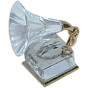 REDUCED Vintage Swarovski Crystal Old Fashion Phonograph Player