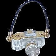 SALE Vintage Swarovski Crystal Camera