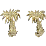 Vintage Palm Tree Earrings