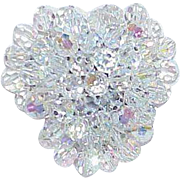 REDUCED Vintage Rock Crystal Bead Brooch