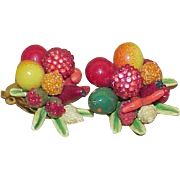 Vintage GERMANY Fruit Salad Earrings