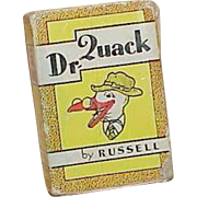 Vintage Russell Press Inc. Dr. Quack Miniature Card Game