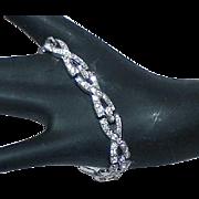 REDUCED Vintage Art Deco Rhinestone Estate Bracelet