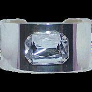 Vintage Glass Rhinestone Cuff Bracelet