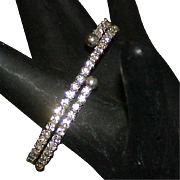 Vintage Spiral Rhinestone Bracelet