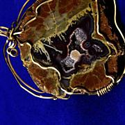 SOLD Finest Huge, Vintage Gem Quartz with 14K Yellow Gold  Pendent