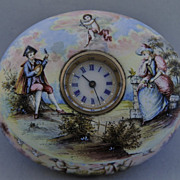 Antique Vieneese Porcelain & Jewelled Timepiece Casket, circa 1800