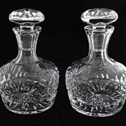 FLAWLESS  Pair Brilliant Period Decanters, (circa1876)