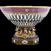 SOLD ANTIQUE,   Old Paris ( Vieux Paris)  Porcelain Corbeille
