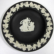 Vintage, Wedgwood Black Basalt Jasper Ware Pin Dish