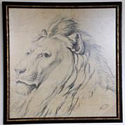 Verboeckhoven Circa1779-1881 Lion Study