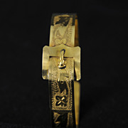 SALE Vintage Rolled Gold Buckle Bracelet