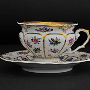 Antique, KPM Meissen Style Cabinet Cup and Saucer