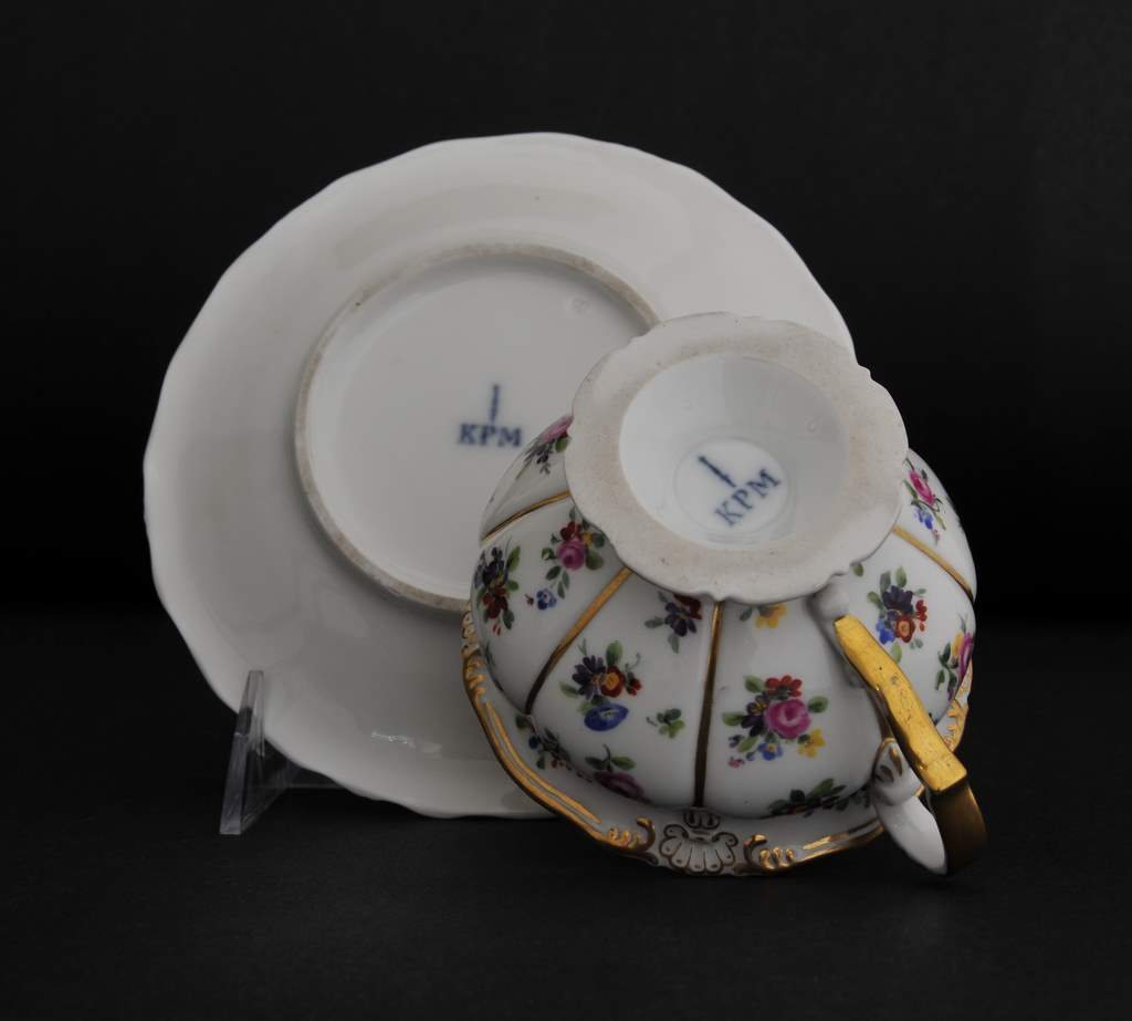 Kpm Meissen Style Cabinet Cup And Saucer From