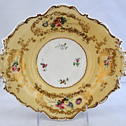 Circa 1835 Copeland & Barret Spodes Porcelain Footed Dessert Plate