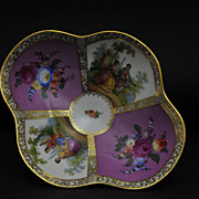 Quatrefoil Decorated Meissen Style Pedestal Centerpiece, Dresden