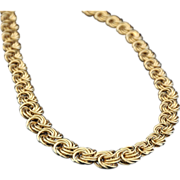 Italian Vintage  18K  Gold  Byzantine Necklace