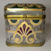 SOLD EXTRAORDINARY!   Mid 19th C. Moser Art Glass Casket