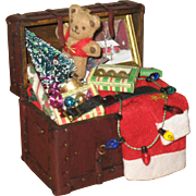 Wonderful artist miniature Santa trunk