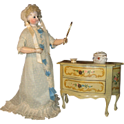 Vintage Italian jewelry box for doll display