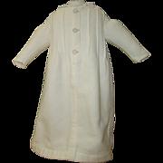 White cotton pique robe for bebe