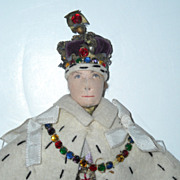 "SOLD 9"" Liberty of London King George VI Coronation Doll"
