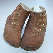 Old Leather Button-up Shoes