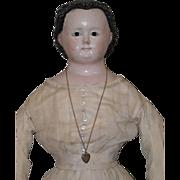 """32"""" Glass Eyed Papier Mache Doll"""