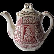 Child's Transferware Teapot