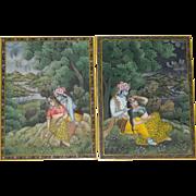 Pair of Miniature Kangra Style Paintings