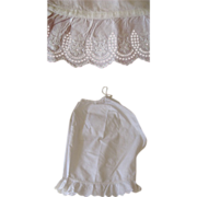 SALE PENDING Cotton Pantaloons with Eyelet Trim