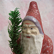 Desirable Antique Santa Father Christmas German Lavender Trim Candy Container Resembles ...