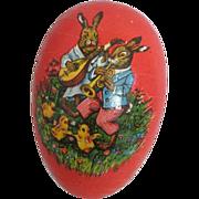Charming Vintage Papier Mache Easter Egg Germany