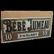 SALE Authentic Antique Bebe Jumeau Box
