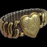 1920s Child's Expandable Bracelet with Heart