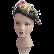 SALE PENDING Hat with Blooming Garden